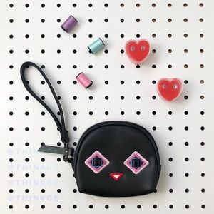 💕 Black Mini Gem Face Purse